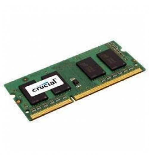 Crucial 4GB LAPTOP DDR3 1600Mhz SODIMM 1.35V/1.5V 204pin Non ECC 256M X 8  PC3-12800 Laptop RAM