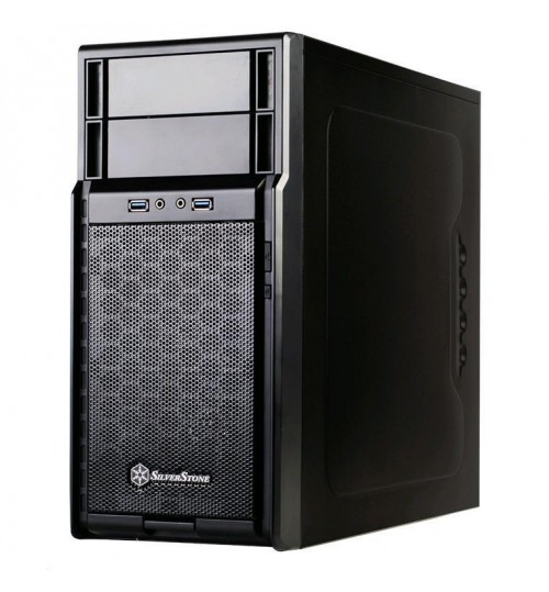 SilverStone PS08B-USB3.0 MATX Mini Tower Case Black