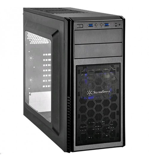 SilverStone PS11B-W ATX Mid Tower Case Black