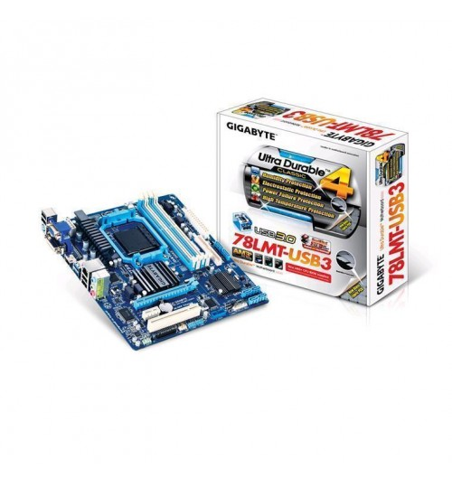 Gigabyte GA-78LMT-USB3 AMD 760G mATX Socket AM3+  4 X DDR3 DIMMs  VGA/DVI/HDMI USB3 support