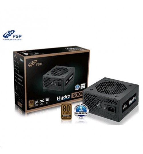 FSP Hydro 600W PSU - 230V - 80 Plus Bronze - 5Yr