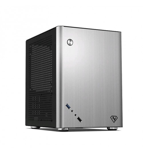 NARATECH I-2AL Cube Mini Case with Front USB 3.0 Aluminium for mini-ITX & Mini mATX (245 x 230mm) motherboard, (NO PSU)