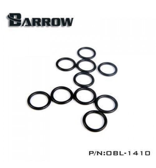 "Barrow G 1/4"" Universal Replacement O-ring Set (10pcs, Black)"