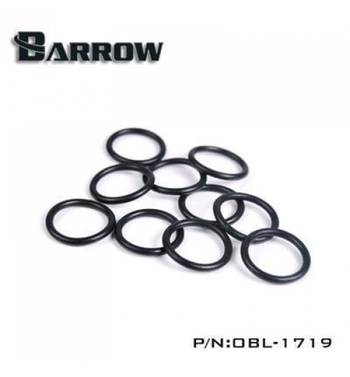 "Barrow G 1/4"" Replacement O-ring Set for Acrylic/Hard Tube (10pcs, Black)"