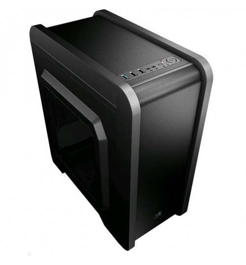 "Aerocool QS-240-W Micro ATX/Mini ITX Case with Window - 1xUSB3.0 2xUSB2.0 - Internal 2x3.5"" HDD"