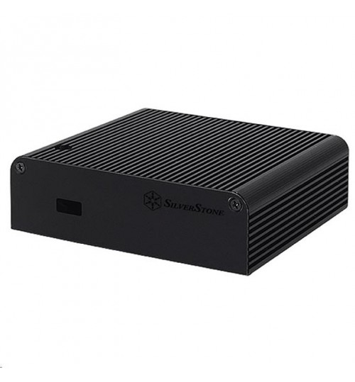 Silverstone Petit PT14B-H1D2 NUC chassis  (black + HDMI + Display port x 2)