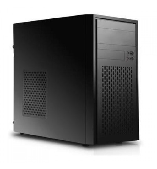Segotep 3C Mark II mATX Mini-Tower Case, with 1 x Front 12CM Fan  (No PSU) - Black -, Front USB 3.0/2.0  & HD Audio