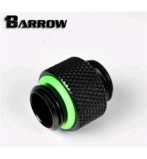 "Barrow G 1/4"" Male to Male Fitting (Black)"