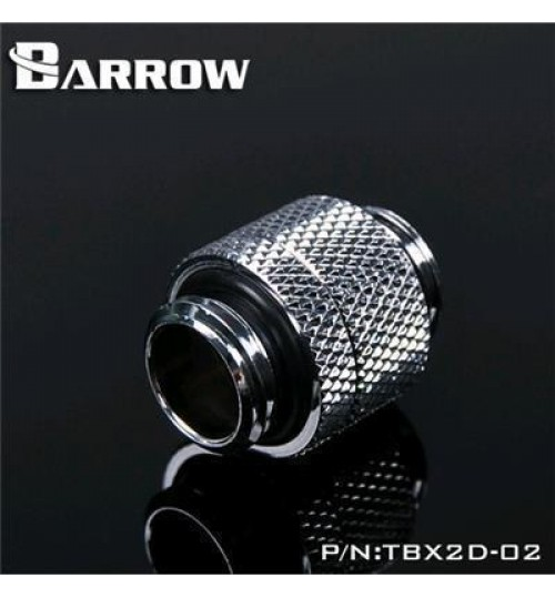 "Barrow Fitting TBX2D-02-SLV Single Rotary,G 1/4"" Male To Male (Silver)"