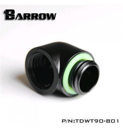 "Barrow G 1/4"" 90 Degree Male to Female Adapter (Black)"