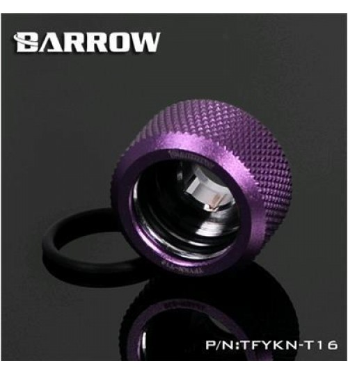 "Barrow Choice Serial TFYKN-T16-PPL,G 1/4"" Compression Fitting For 16MM Acrylic/Hard Tube (Purple)"