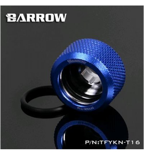 "Barrow Choice Serial TFYKN-T16-SBL,G 1/4"" Compression Fitting For 16MM Acrylic/Hard Tube (Sapphire Blue)"