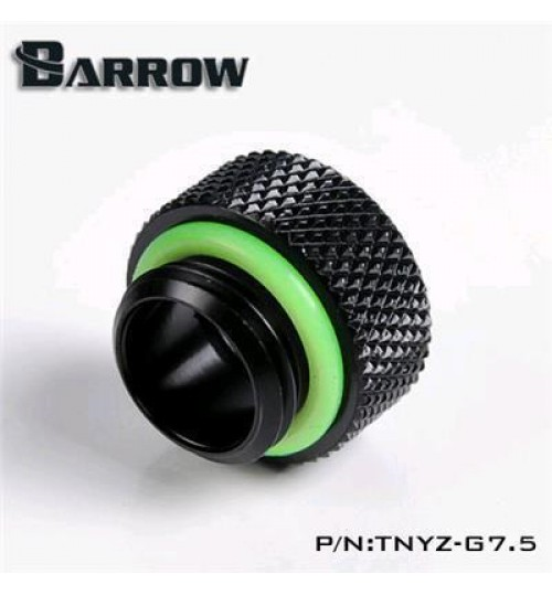 "Barrow G 1/4"" Male to Female Fitting (7.5MM, Black)"