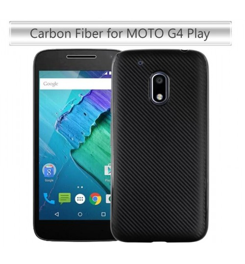 MOTO G4 PLAY case impact proof rugged case with carbon fiber