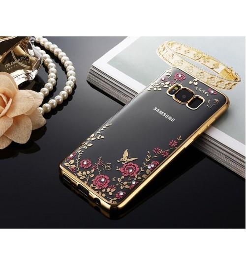 Galaxy S8 soft gel tpu case luxury bling shiny floral case
