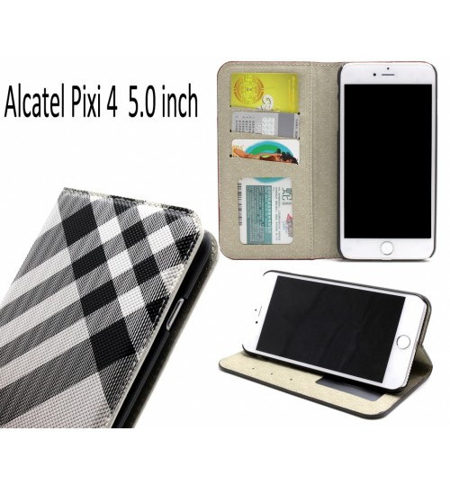 Alcatel Pixi 4 5.0 inch case wallet Leather case