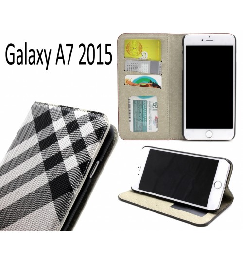 Galaxy A7 2015 case wallet Leather case