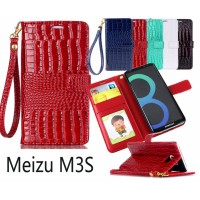 Meizu M3S Croco wallet Leather case