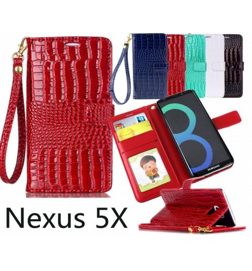 Nexus 5X Croco wallet Leather case
