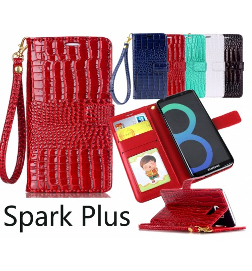Spark Plus Croco wallet Leather case