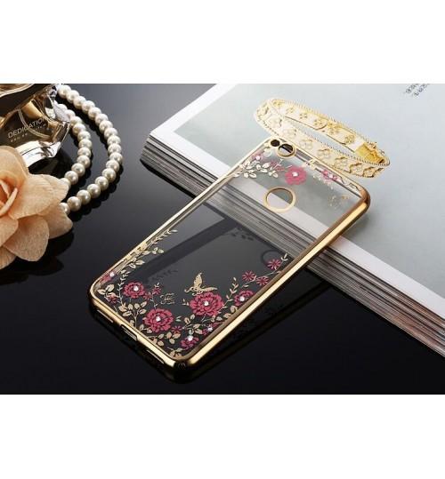 Huawei Nova Lite soft gel tpu case luxury bling shiny floral case