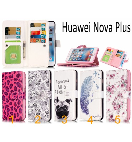 Huawei Nova Plus Multifunction wallet leather case cover