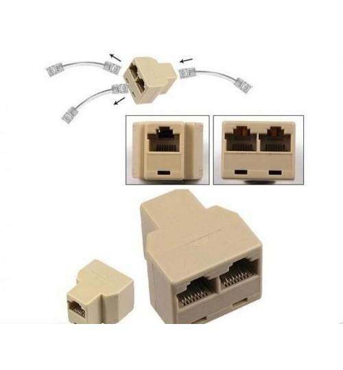 RJ45 RJ-45 network Connector Splitter Adaptor