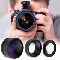 Wide Angle and Macro Lens Set for Cameras-52mm
