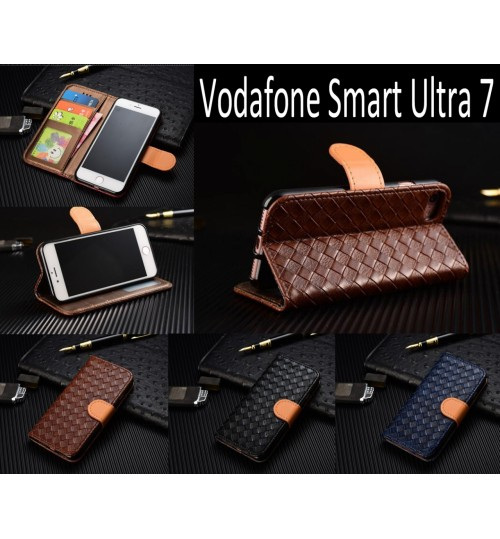 Vodafone Smart Ultra 7 Leather Wallet Case Cover