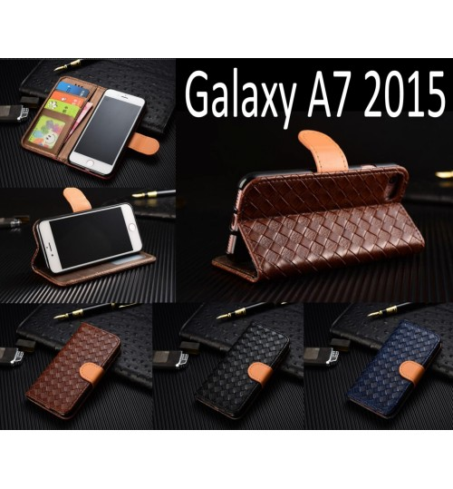 Galaxy A7 2015 Leather Wallet Case Cover