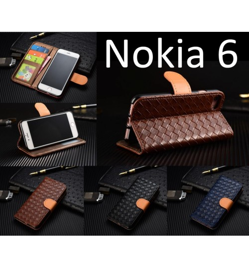 Nokia 6 Leather Wallet Case Cover