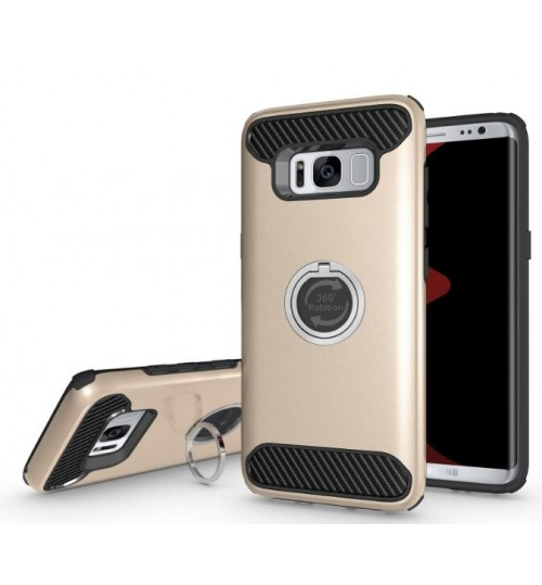 Galaxy S8 Shockproof Hybrid 360° Ring Rotate Kickstand Case Cover