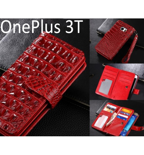 OnePlus 3T Croco wallet Leather case