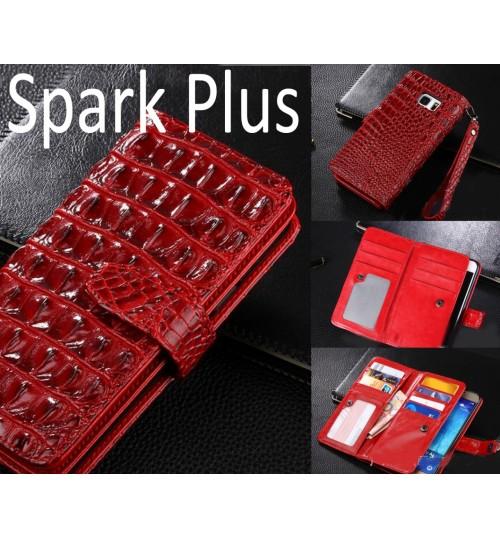 Spark Plus Croco wallet Leather case
