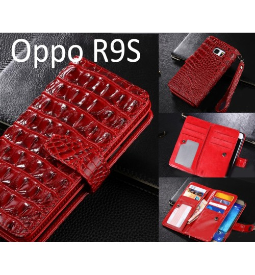 Oppo R9S Croco wallet Leather case