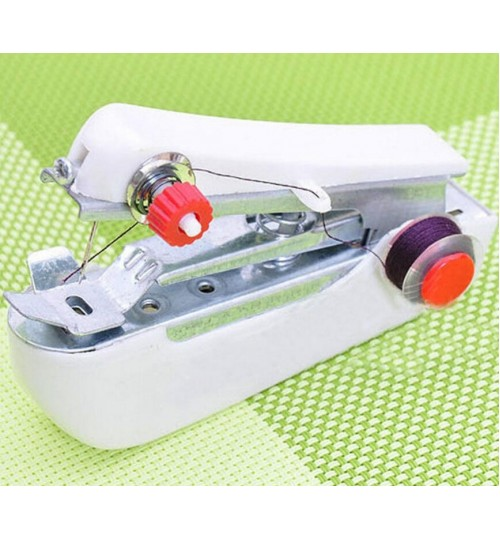 Sewing Machine Mini Handy Clothes Fabric Handheld