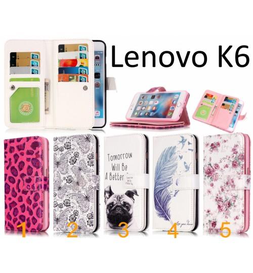 Lenovo K6 Multifunction wallet leather case cover