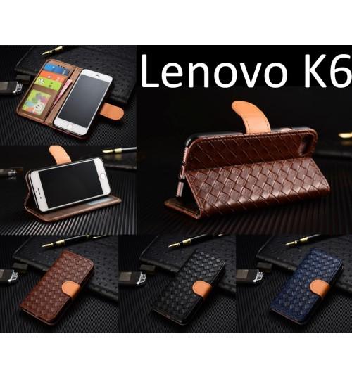 Lenovo K6 Leather Wallet Case Cover