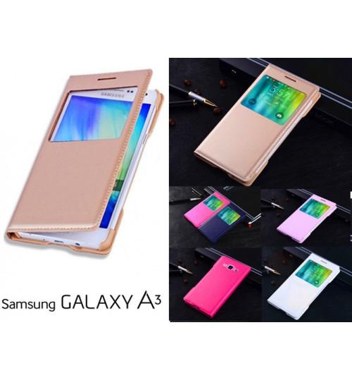 Samsung Galaxy A3 case Leather Flip window case