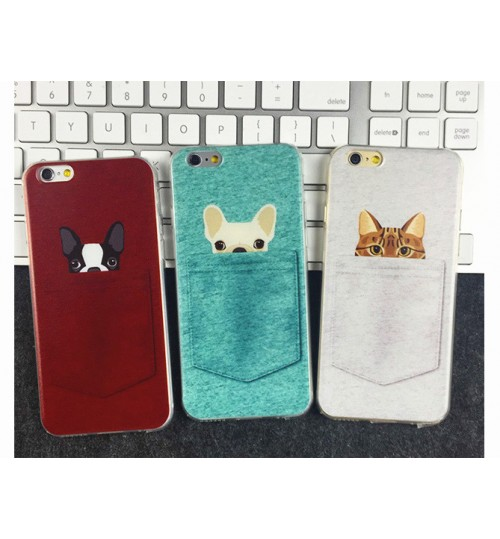 iPhone 5 5s  Case Soft TPU Gel Dogs And Cats