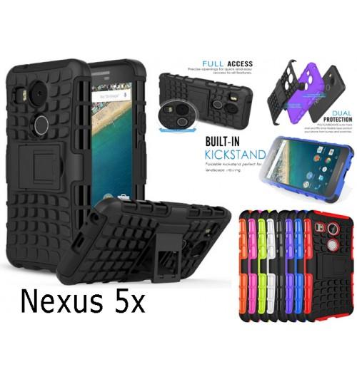 LG Google Nexus 5x Case Heavy Duty Hybrid Kickstand