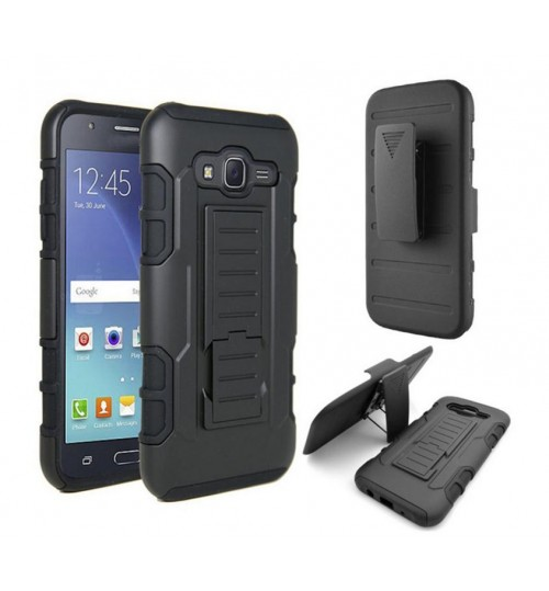 Galaxy J5 Hybrid armor Case+Belt Clip Holster