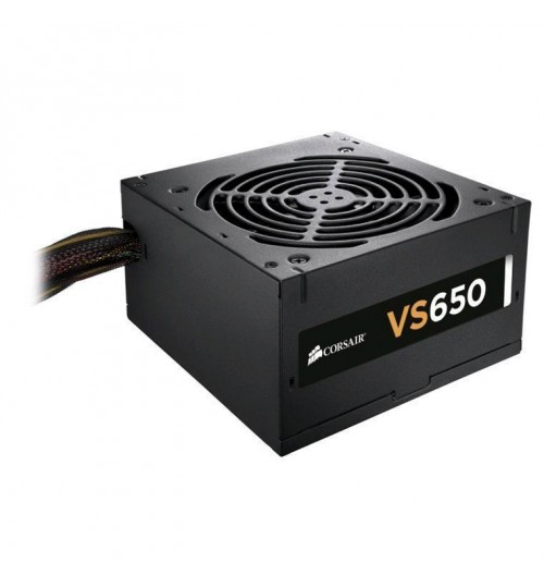 Corsair VS650 650W ATX Power Supply, 120mm fan, 2x (6+2)pin PCIE, 4x SATA, 4x Molex, Single Rail Design, 3-Year Warranty