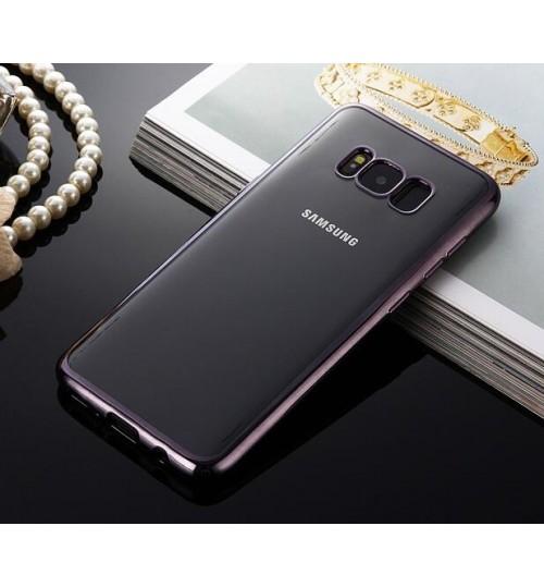 Galaxy S8 case bumper w clear gel back cover