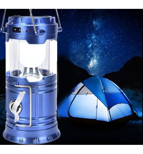 LED USB Solar Rechargeable Lantern Outdoor Camping Hiking Lamp Light