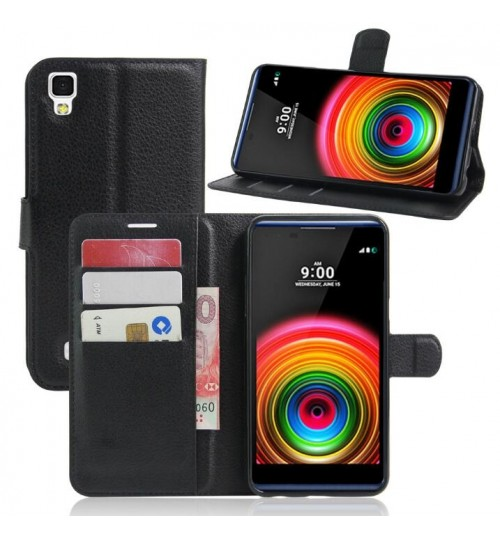 LG X Power Wallet leather cover+pen
