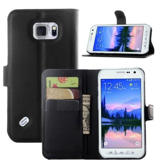 Galaxy S6 Active wallet leather case+Pen