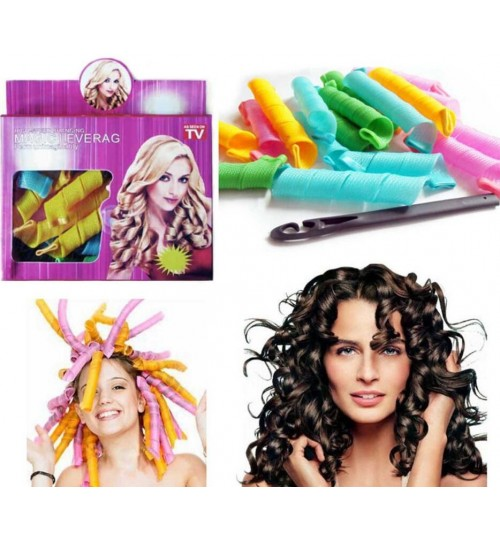 Magic Hair Curler Spiral Hair Rollers 20pcs