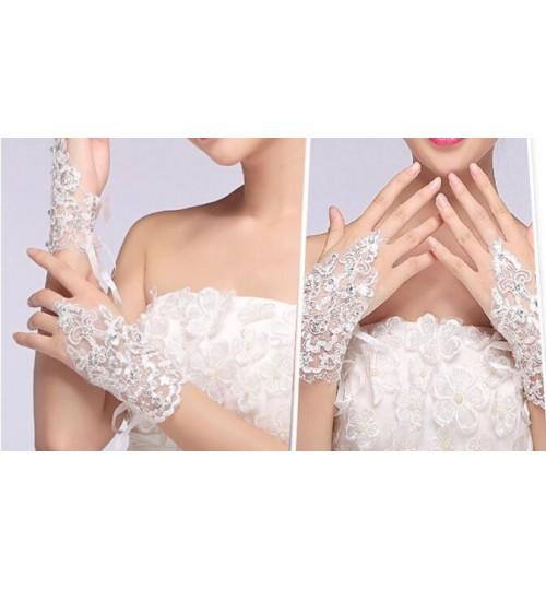 Wedding Dress Gloves Lace Fingerless Glove