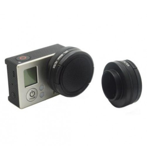 40.5MM CPL Filter Lens Cover Cap Set for GoPro Hero 4/3+/3